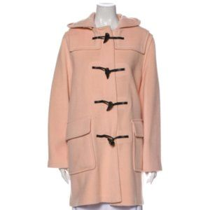 Burberry | Size 14. Pink Wool Toggle Coat with Hood